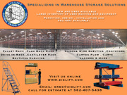 Used heavy duty pallet racking